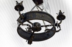 Chandelier hoop (3 elements) h-240 (Height without suspension) d-480 (Approximate sizes)
