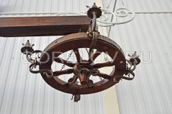 "Chandelier ""Wheel"" 4 elements h-300 (Height without suspension) d-880 (Approximate sizes)"