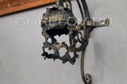 "Sconce ""Ragged Metal"" L-160 h-350Z-270 (Sizes are approximate)"