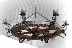"Chandelier ""Wheel"" 6 elements h-250 (Height without suspension) d-700  (Dimensions approximate)"