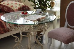 Table with glass L-920 h-750 d-920 (Dimensions approximate)