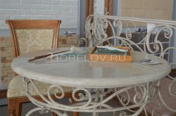 Round table with stone countertop L-850 h-780  d-850 (Approximate sizes)