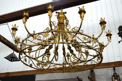 "Chandelier ""Banquet Hall"" 12 elements h-1130 (Height without suspension) d-1600 (Approximate sizes)"