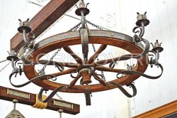 "Chandelier ""Wheel"" 8 elements h-300 (Height without suspension) d-1150 (Approximate sizes)"