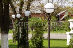 "Lamp post ""Leaves"" round"